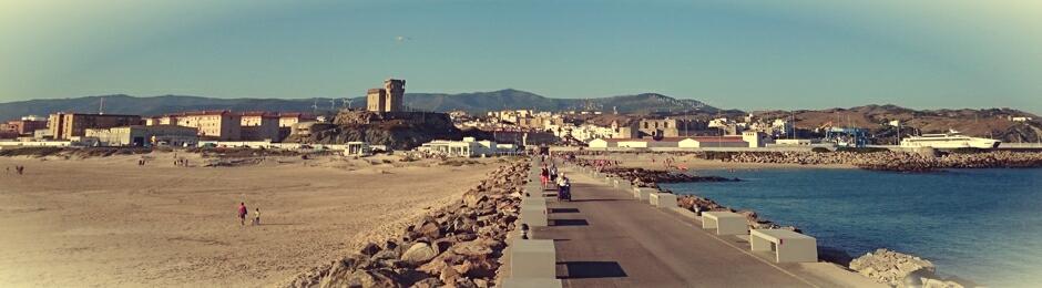Vista de Tarifa desde la Isla de las Palomas