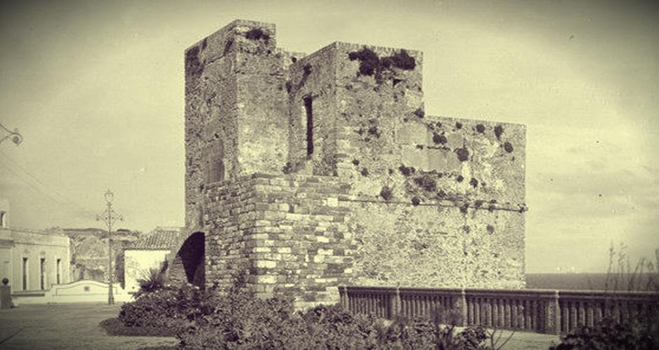 Postal antigua de la Torre del Miramar en Tarifa