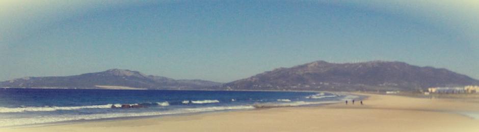 Playa de Los Lances en Tarifa con marea baja