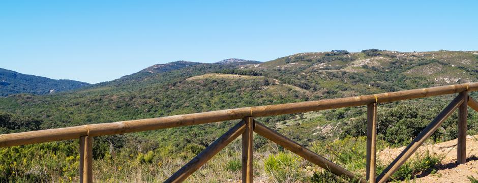 Vistas desde los miradores del Parque de los Alcornocales