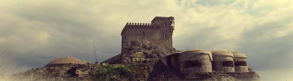 Nidos de ametralladoras bajo el Castillo de Santa Catalina