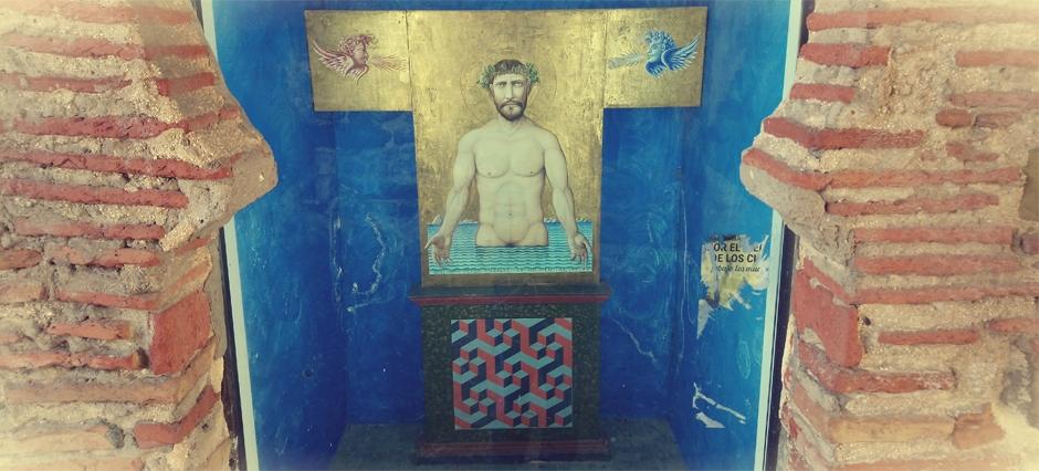 Cristo de los Vientos en el arco de la Puerta de Jerez